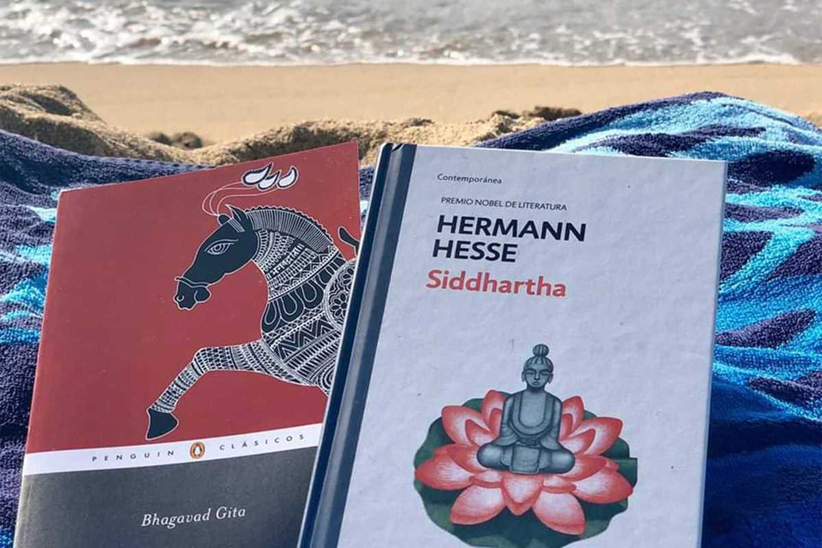 books on the beach