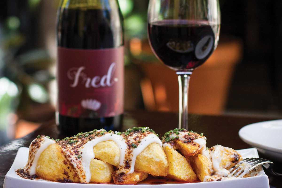 elsa fred wine patatas bravas
