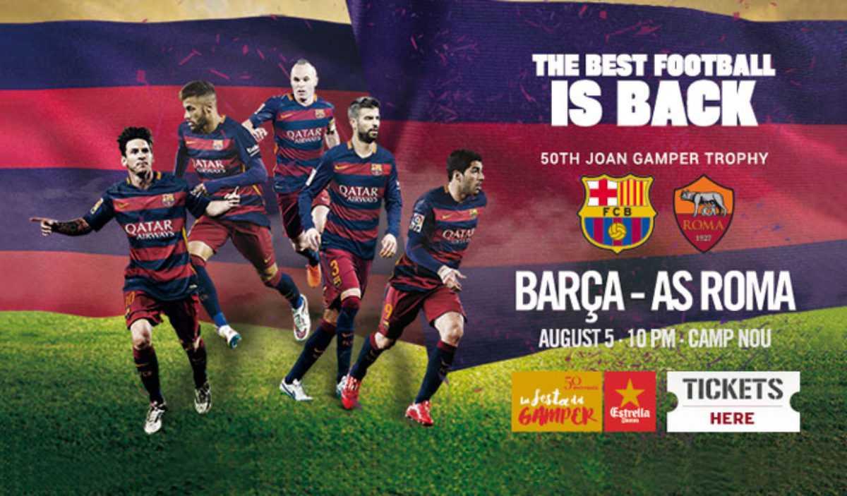 fc barcelona gamper roma 2015 final