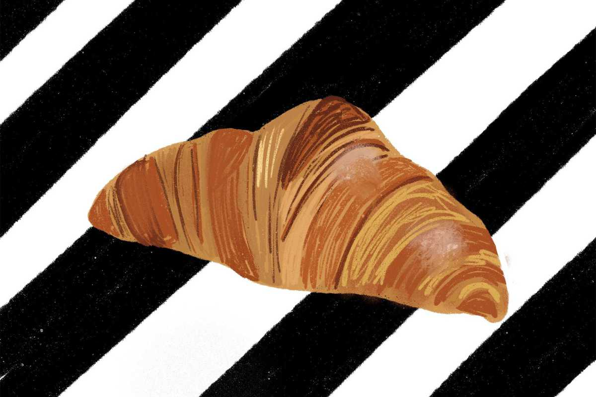 funky bakers croissant