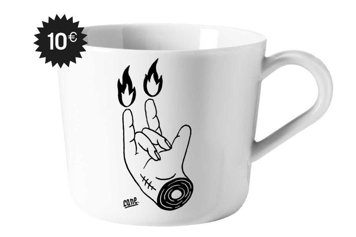 hell collective cane mug
