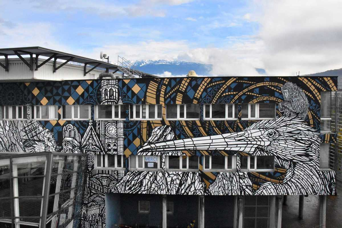 monkeybird mural