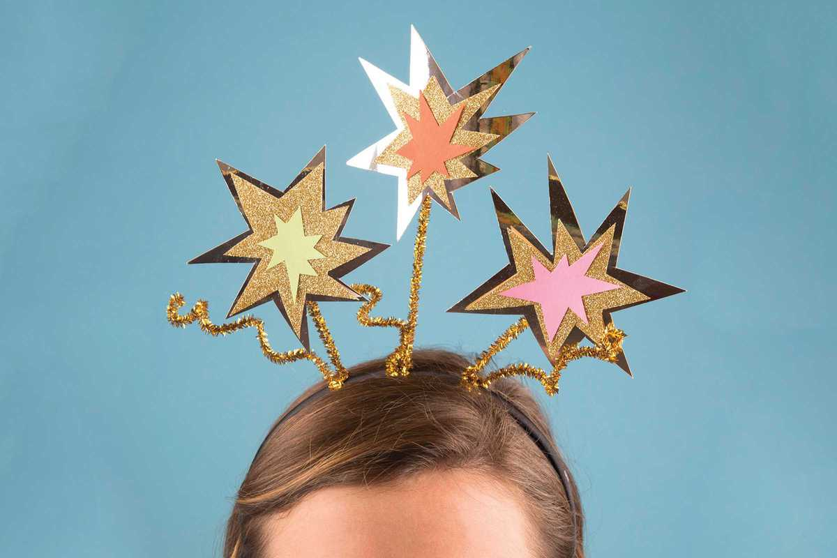 new years star headband