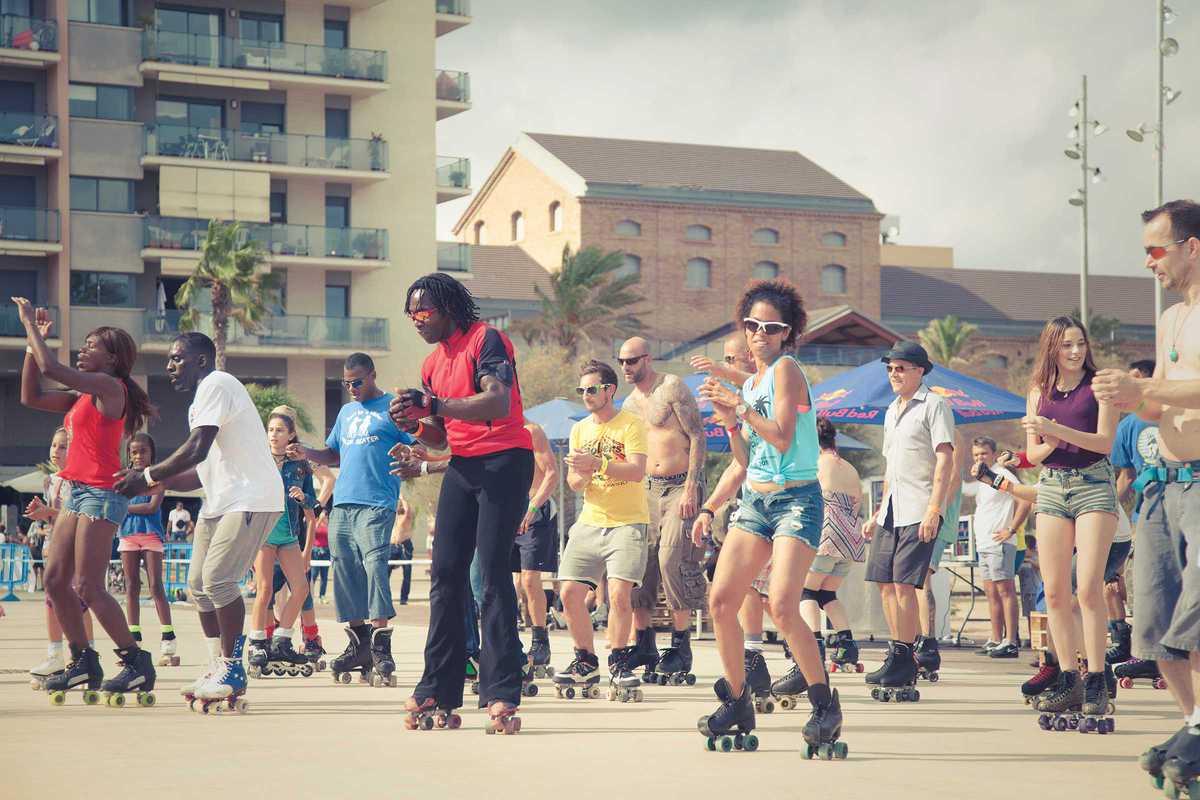 skate love barcelona roller jam