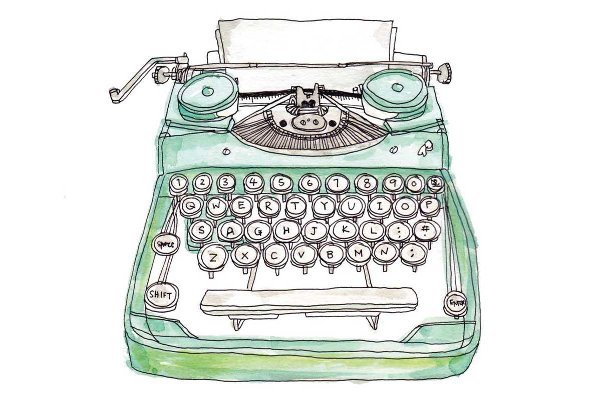 typewriter collage
